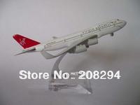 Wholesale Free Shipping,5 pcs/lot  B747-400 British virgin ,metal airplane models,airplane model, airbus prototype machine