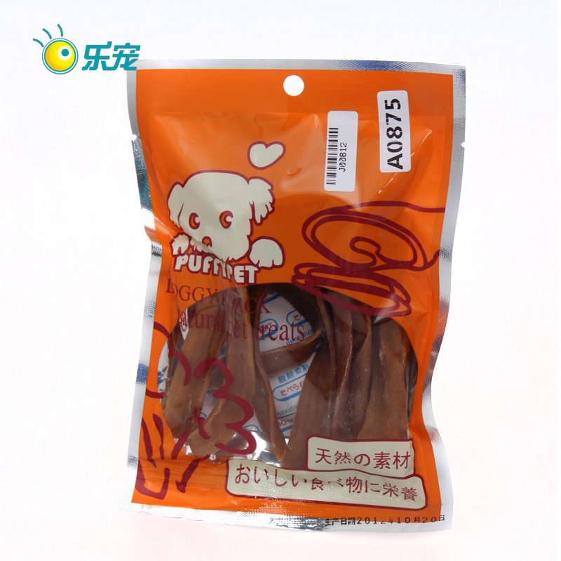 3097puffypet roast pig ear 100g dog snacks pet snacks dog chews food(China (Mainland))