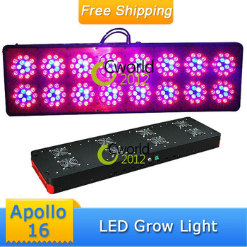 Free Ship Apollo 16 720W Plant Grow Light Greenhouse Garden Indoor Vegetable Lighting Hydroponics Growth Lamp Panel 7:3:3:1:1