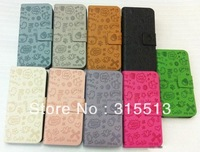 Little witch PU leather protector case for iphone4 4s