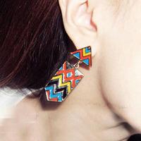 Min Order 12$ 2013 new arrival, alloy punk enamel drop earrings, fashion earring ES0003