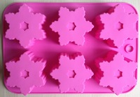 Free shipping Snowflake shape Muffin Sweet Candy Jelly fondant Cake chocolate  Mold Silicone tool Baking Pan DIY