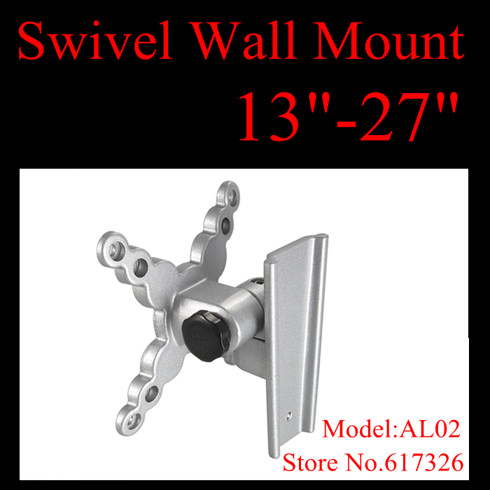 LCD LED TV Wall Bracket Mount Tilt Swivel EASY ON OFF 15 19 20 22 23 24 26 27 VESA 75 100mm free shipping(China (Mainland))