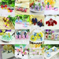 Han edition baby bowknot B B   hair side clip 20pcs /lot free shipping mix design