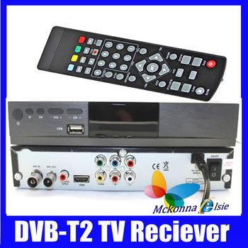5Pcs/Lot HD Digital Set Top Box Terrestrial Reciever Multiple PLP MPEG-2/4 H.264 DVB-T,DVB-T2+Remote Control+For TV Television