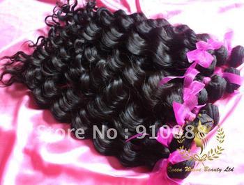 Virgin Brazilian Hair 12''~28'' Loose Wavy Queen Hair Non Dyed Cuticl Intact, min shedding Weft Exte