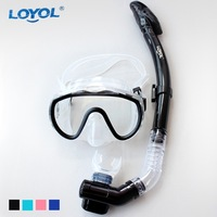 Hot Selling Diving Glasses Snorkel Swim Goggles Full Dry Breathing Tube Set Free Shipping Promotion
