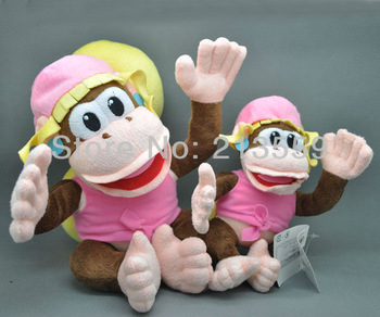 "Free Shipping EMS 100/Lot Super Mario Bros. Plush Doll Stuffed Toy Dixie Kong 7"" New Wholesale"