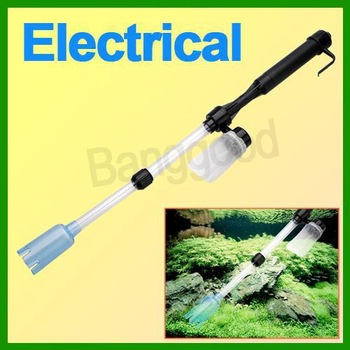 New Home Aquarium Electric Battery Syphon Auto Fish Tank Vacuum Gravel Water Pump Filter Cleaner Washer Free Shipping Wholesale