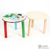 Free Shipping 1pcs/lot Design Your Own! DIY Unfinished Wood Stool Drawing Toys For Kids,22.5*18cm