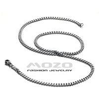 "Wholesale 2014 New HOT SALE Fashion Jewelry Silver chain men's 3.5MM 20"" 50CM Platinum Plated Necklace for men/women TY319"