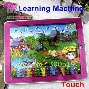 ipad table computer learning Machine toy Y-pad farm Version kid learning toy&English ABC,Russian Ver(China (Mainland))