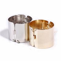 2014 fashion Mirrored gold silver punk chunky metal cuff bangle bracelet for women Free Shipping B2-139