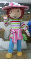 Super High Quality Strawberry Shortcake Mascot Costume Character Costume Cartoon Costume Free Shipping