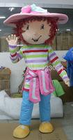 Super High Quality Strawberry Shortcake Mascot Costume Character Costume Cartoon Costume Free Shipping
