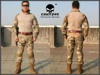 Combat Uniform Emerson tactical BDU Airsoft uniform Gen2 Combat Shirt & Pants with pads A-Tacs #6912