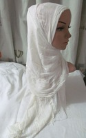 TC251 cotton + Lace stitching scarf 180*70CM