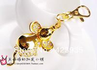 cute cartoon mouse stainless steel watch,children/student/nurse pocket& fob watch, Zodiac keychain watch