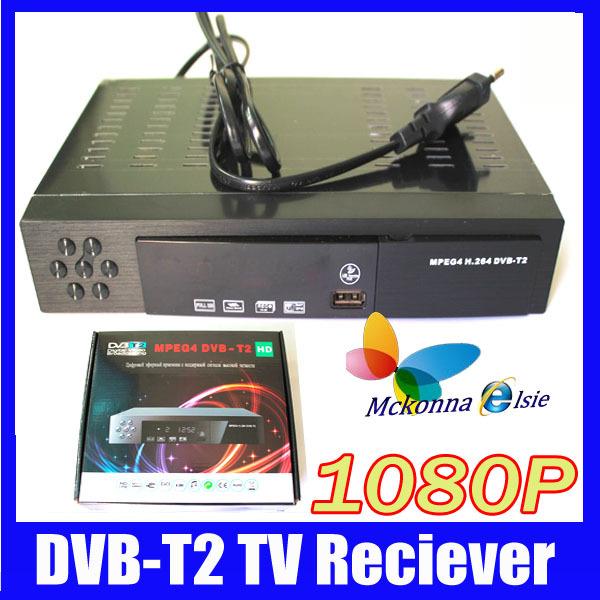 1080P Full HD Digital Terrestrial Receiver Tuner DVB-T2 DVB T TV Set Top Box Tuner MPEG4,MPEG-2 H.264,Support Russian Menu+HDMI(China (Mainland))