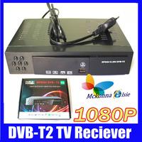 1080P Full HD Digital Terrestrial Receiver Tuner DVB-T2 DVB T TV Set Top Box Tuner MPEG4,MPEG-2 H.264,Support Russian Menu+HDMI