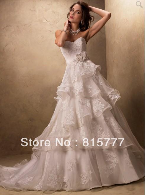 Wedding Dress Lace Italian : Lace skirt chapel train italian wedding dresses china mainland