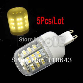 5pcs/Lot G9 SMD3528 48 LED 200-240V LED Spot Light Bulb Lamp 210LM Warm White 2514