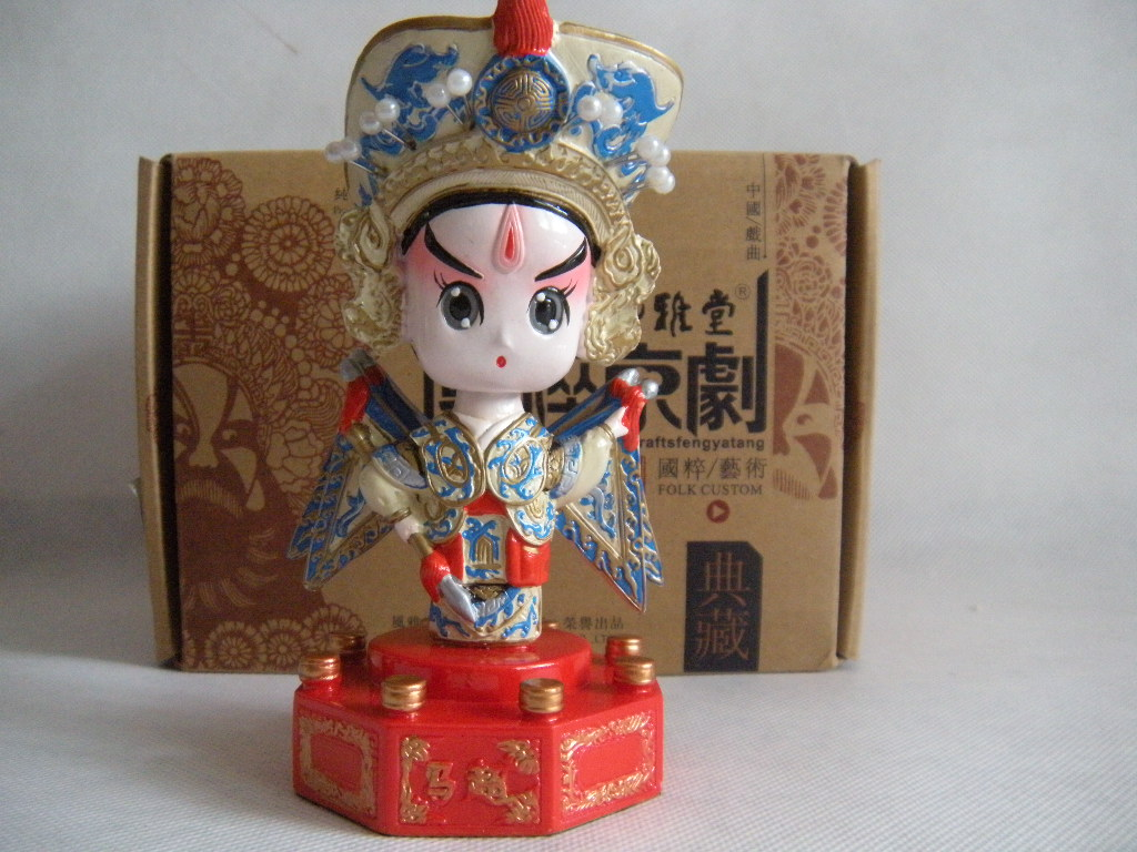 Beijing opera mask clay sculpture unique personalized crafts commercial small gifts desk decoration(China (Mainland))