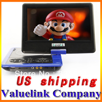 "NEW 7.5"" TFT Screen Portable DVD EVD CD Player with TV function AVI MP3 MP4 Blue US Stock MP199"
