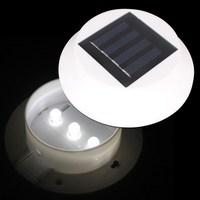 Solar Powered 3LED Fence Gutter Security Paths Light  Garden Yard Wall Lamp