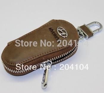 Hyundai Solaris Verna IX35 Santafe cerato car leather car key chain  key case key bag key holder