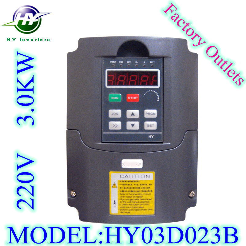 HUANYANG spindle inverters VFD Inverters AC Drive 3.0KW 220V 13A Variable Frequency Drive frequency converter Factory outlets(China (Mainland))