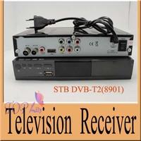 Free shipping DVB T2 8901 STB HD terrestrial digital television receiver with DVB-T MPEG-2 MPEG-4 H.264 1080p multiple PLP dvb