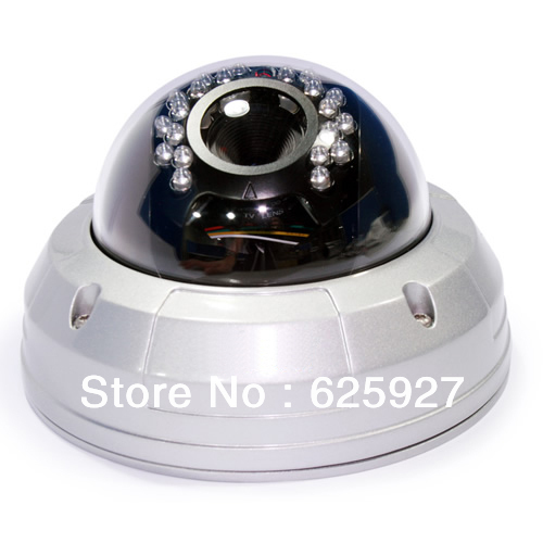 IR Vandalproof dome camera, day night vision, with Sony Effio-E 700tvl, 2.8-12mm lens(China (Mainland))