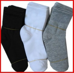 Free shipping 20Pcs=10Pairs=1lot male socks for man / brand sports socks / pure color cotton socks qiu dong warm socks wholesale(China (Mainland))
