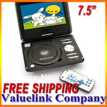 "7.5"" TFT Screen Portable DVD EVD CD Player Multi-functions RMVB MP3 MP4 USB TV Car FM TXT Function MP0212"