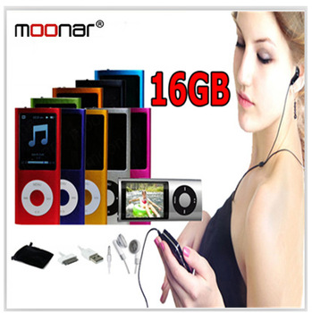 Russia Multi-Language Mp4 Mp3 Music Player 16GB 1.8'' LCD with FM Radio 9 Colors for Choice DA0392