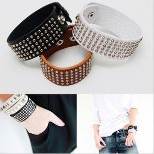 Ocean store fashion Wrap Multilayer punk rivet leather bracelet l(min order $10)s235