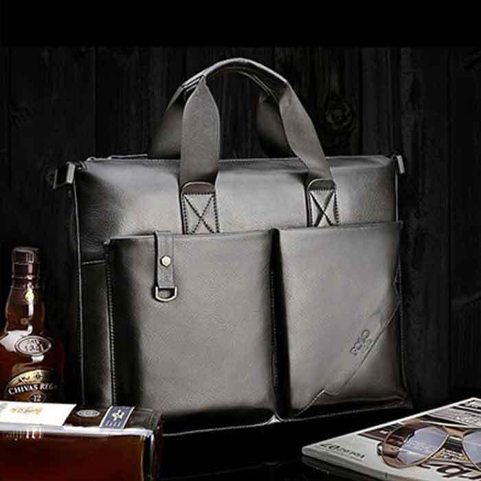 genuine leather brand designer portfolio attache case ,male shoulder handbag briefcase(China (Mainland))