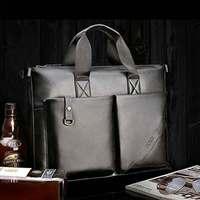 genuine leather brand designer portfolio attache case ,male shoulder handbag briefcase