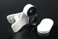 universal Fisheye Wide-Angle Macro 3 in 1 photography lenses for Apple iPad iPhone4 4S 5 Samsung GALAXY S3 S4 Note 2