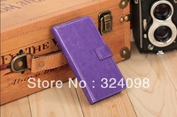 New Arrival High Fashion Pu Leather Wallet Flip Case Cover for Samsung Galaxy S4 I9500 Mobile Phone +Free Shipping ,5pcs /lot