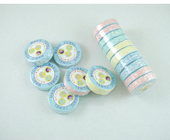 mini Magic Compressed Travel Towel Nonwoven Washcloth Essential Reusable hand hairdressing wash bowl hand towel