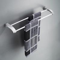 free shipping Space aluminium double towel bar bathroom accessories shelf,HR406