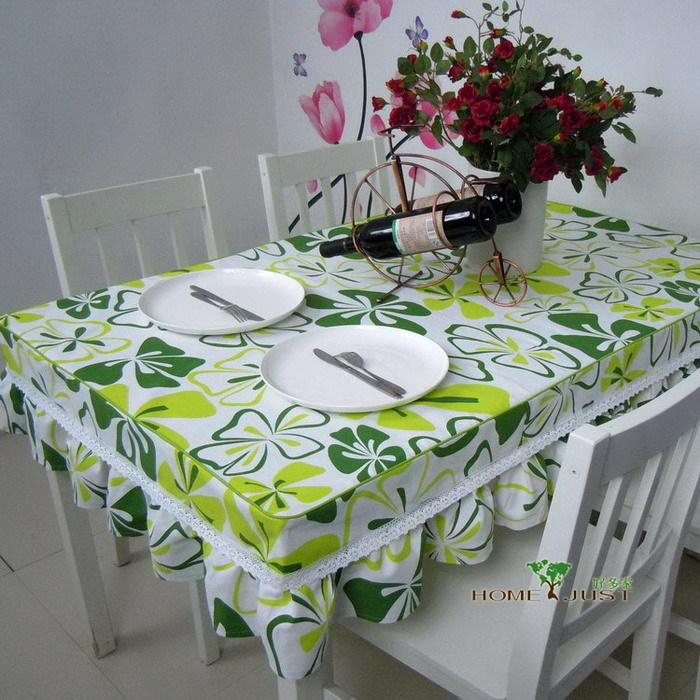 Home textile Table set slip-resistant table cloth cloth lace round table decoration set spring customize Free shipping(China (Mainland))