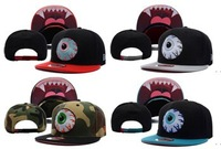 Hot on sale!! Wholesale mix orders high quality fashion Mishka big eyes  hiphop baseball cap snapback  flat brim hat supreme!