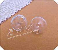 Free shipping! 100pcs/lot 20mm(6mm opening) glass bubble/ DIY Glass globe vial pendant/DIY decorations / glass vial pendant