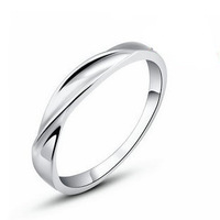 GS brand JZ-43 new design waves fine jewelry 925 stamp silver + platinum plated anti-allergy lovers` rings free shipping