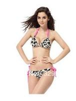 Women Bikini Swimwear&Swimsuit Bathing suits Beachwear With Inside Pads Spaghetti bikini Sexy Leopard Free shipping