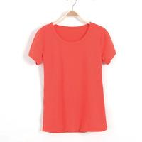 Free shipping!Casual Women Simple Short sleeve cotton T-shirt