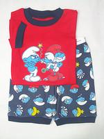 free shipping 6sets/lot baby boy's red   short pajamas